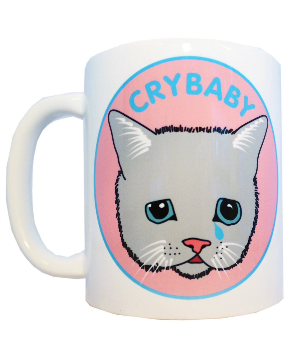 Cry Baby Kitty Cat Cute Kawaii Ceramic Coffee Mug | Rebel Rebel Bruges