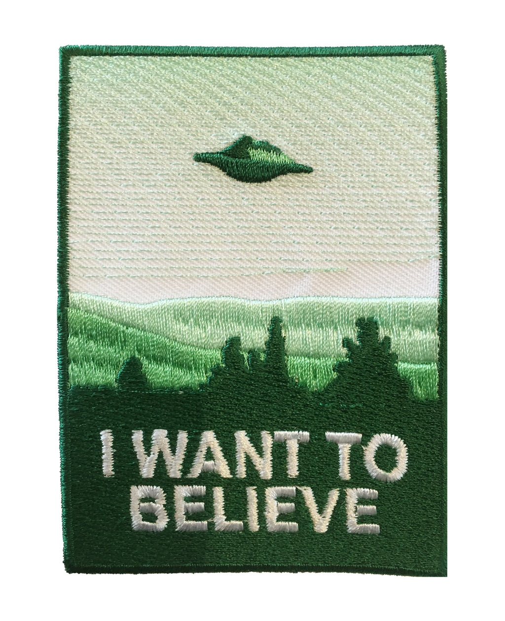 I Want To Believe Patch X-Files Iron-On Patch | Rebel Rebel Bruges