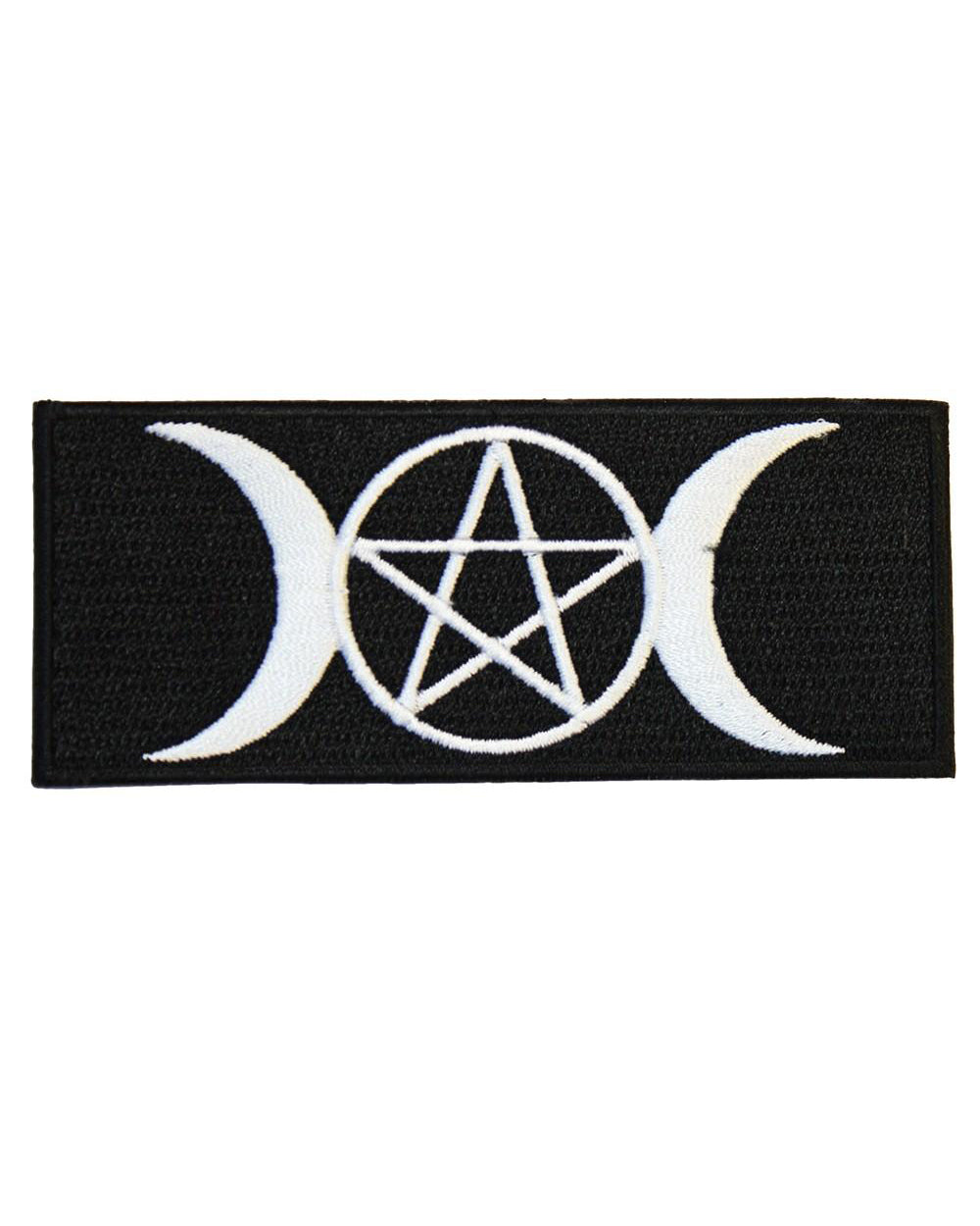 Pentagram & Moons Witch Alternative Iron-On Patch | Rebel Rebel Bruges