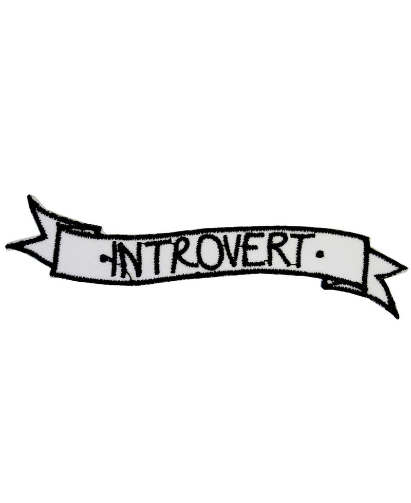 Introvert Tattoo Banner Iron-On Patch | Rebel Rebel Bruges