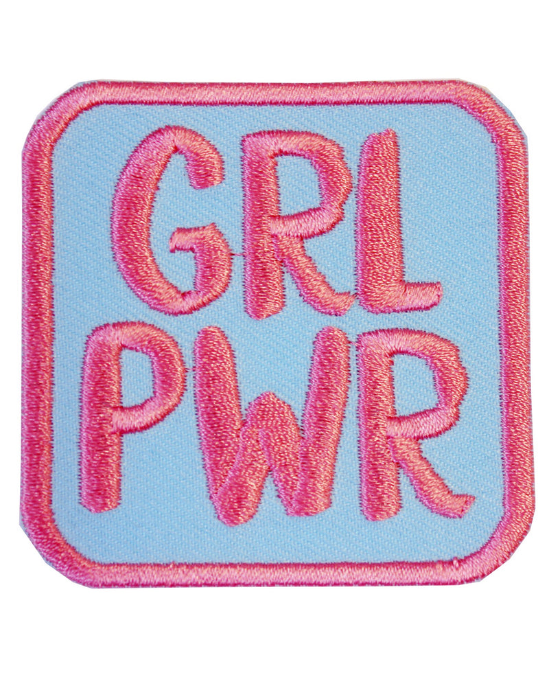 Grl Pwr Girl Power Feminist Iron-On Patch | Rebel Rebel Bruges