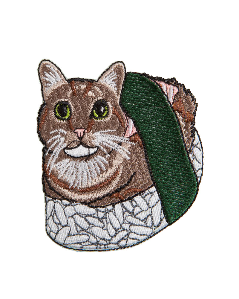 Sushi Cat Kawaii Iron-On Patch | Rebel Rebel Bruges