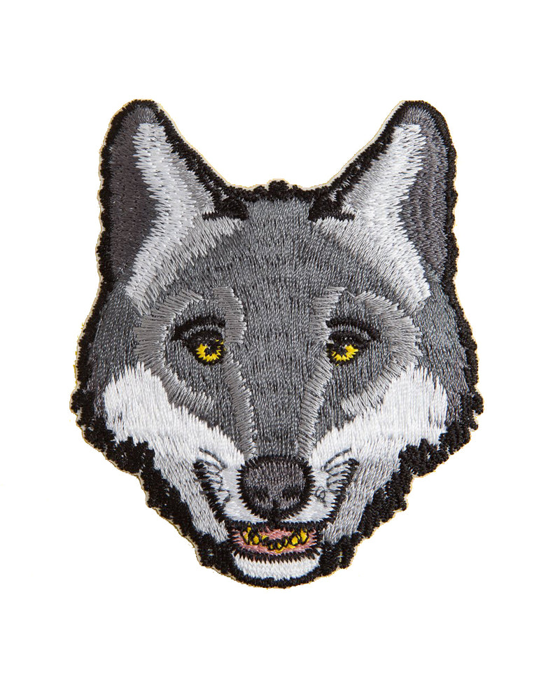Wolf Head Vintage Iron-On Patch | Rebel Rebel Bruges