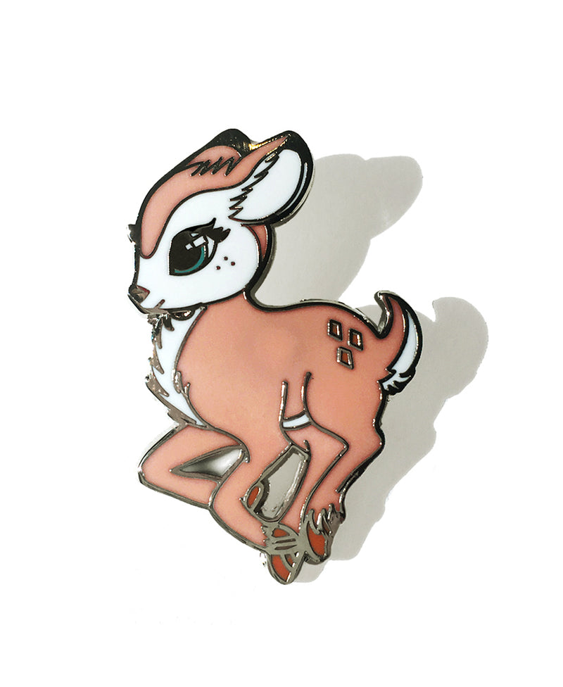 Fearless Illustration Faline Deer Enamel Pin | Rebel Rebel Bruges