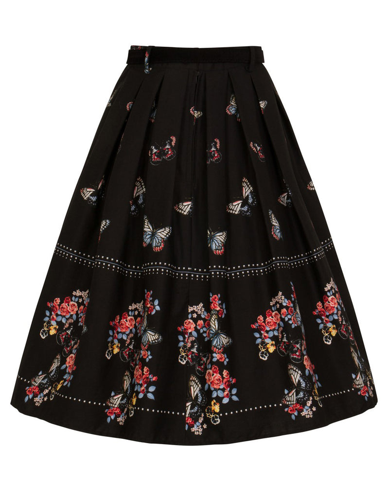Hell Bunny Laeticia Butterflies Vintage Swing Skirt | Rebel Rebel Bruges