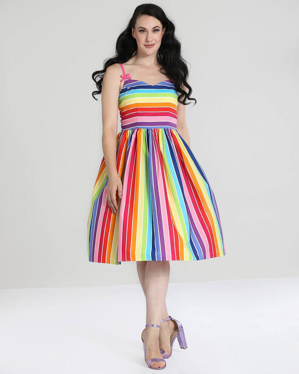 Hell Bunny Over The Rainbow Vintage Swing Dress | Rebel Rebel Bruges