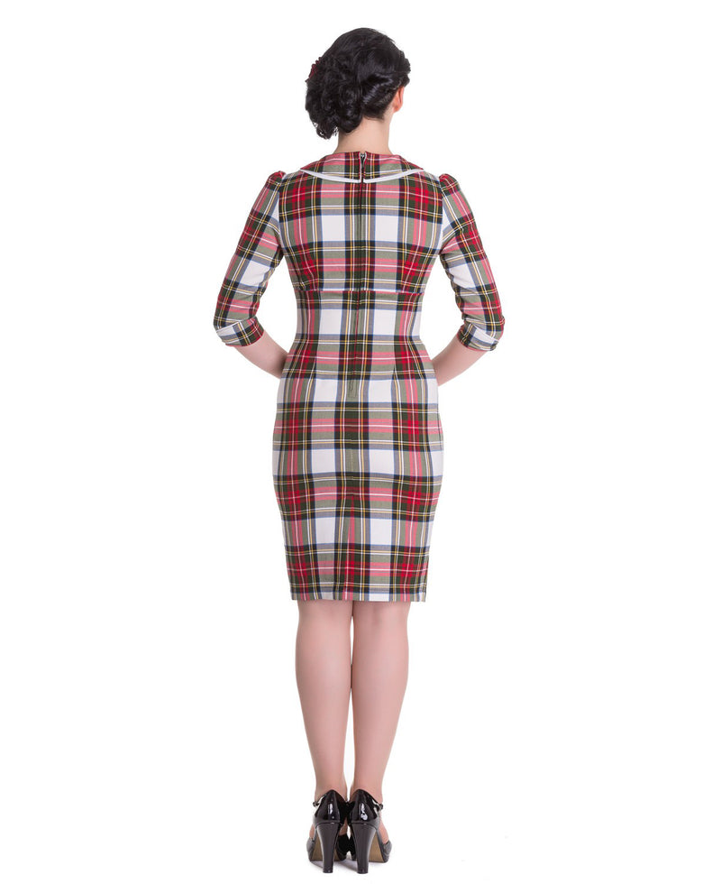 Hell Bunny Doralee Sherwood Tartan Pencil Dress | Rebel Rebel Bruges