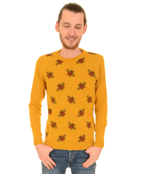 Run & Fly Buzzy Bees Knitted Vintage Jumper | Rebel Rebel Bruges
