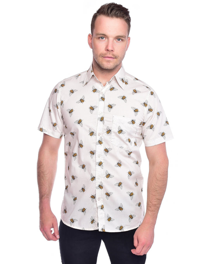 Run & Fly Buzzy Bees Hawaiian Rockabilly Shirt | Rebel Rebel Bruges