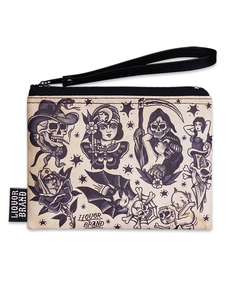 Liquorbrand Traditional Tattoo Flash Purse & Pouch Set | Rebel Rebel Bruges