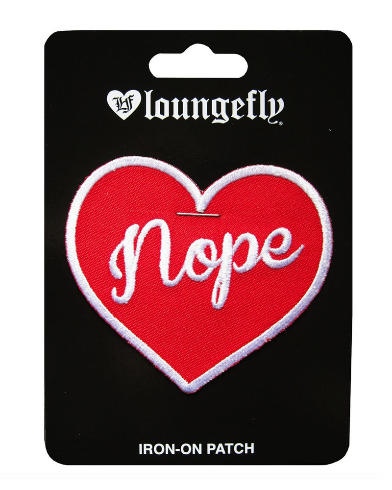 Loungefly Nope Heart Alternative Iron-On Patch | Rebel Rebel Bruges