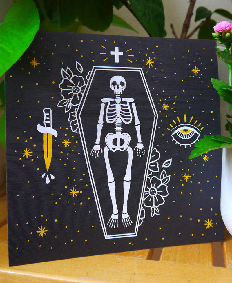 Moon & Bear Memento Mori Art Print | Rebel Rebel Bruges