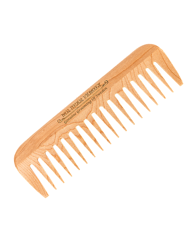 Mr Bear Family Wooden Beard Comb | Rebel Rebel Bruges