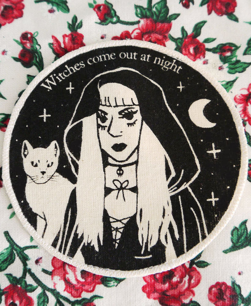 Moon & Bear Witches Come Out At Night Patch | Rebel Rebel Bruges