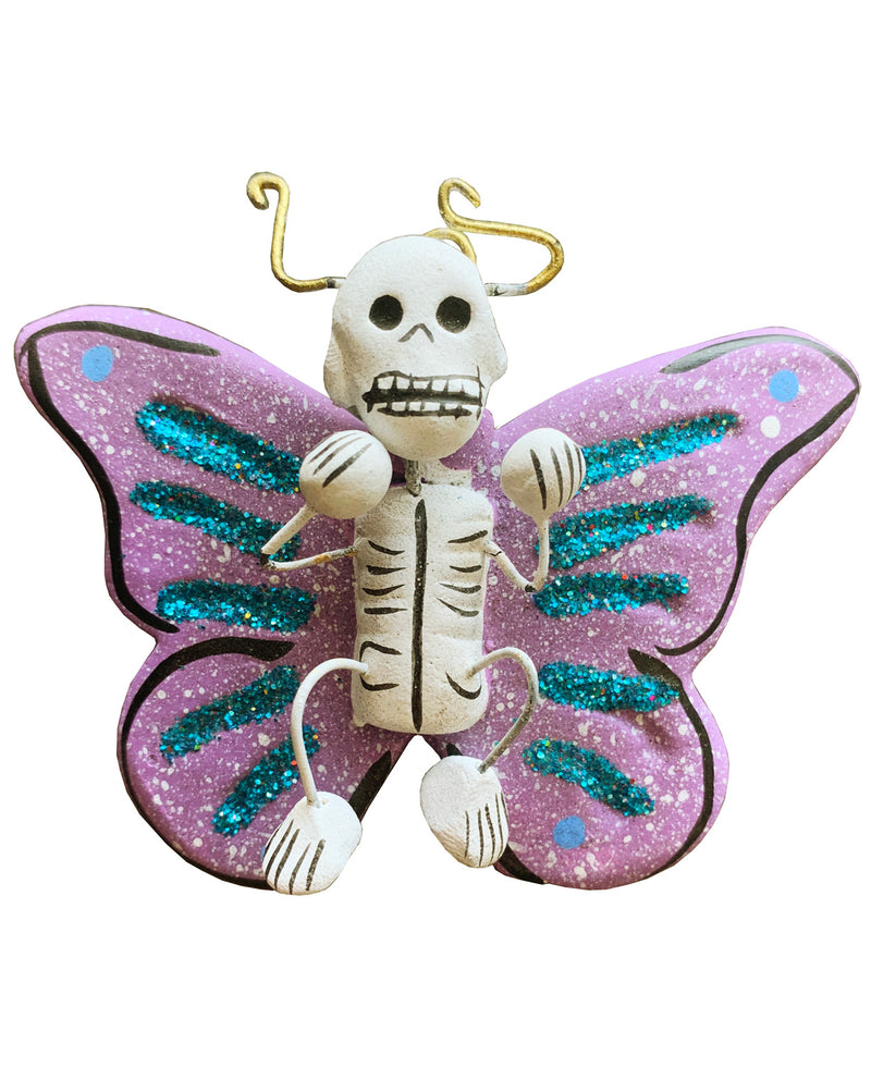 Mexican Mob Purple Butterfly Skull Wall Decoration | Rebel Rebel Bruges
