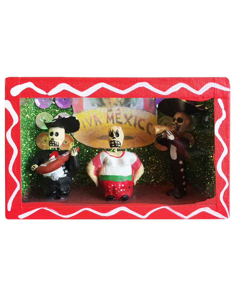 The Fat Lady Sings Mexican Mini Nicho Shrine Decor | Rebel Rebel Bruges