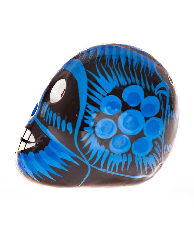 Mexican Mob Blue Mexican Ceramic Lucha Sugar Skull | Rebel Rebel Bruges