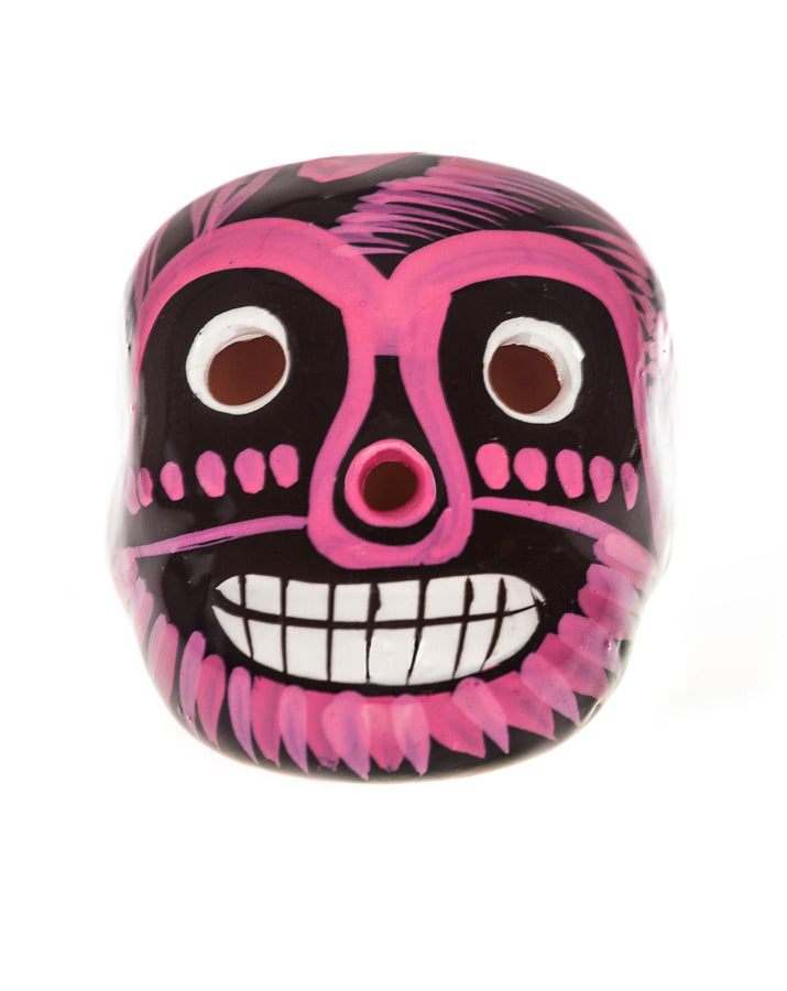 Mexican Mob Pink Mexican Ceramic Lucha Sugar Skull | Rebel Rebel Bruges