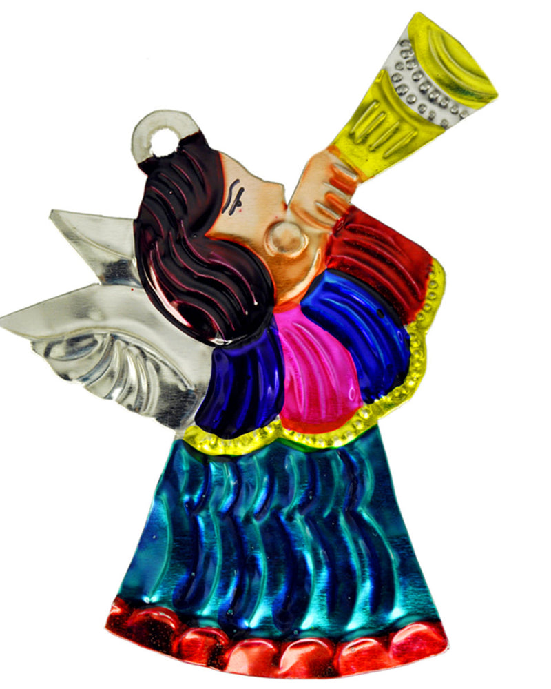Mexican Mob Trumpeting Angel Tin Ornament | Rebel Rebel Bruges