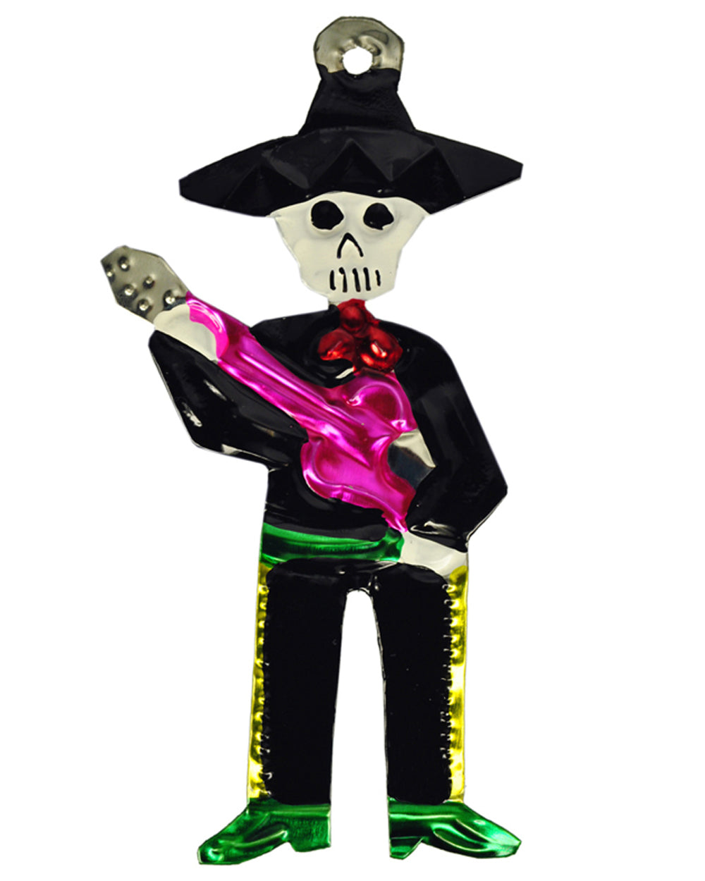 Mexican Mob Mariachi Band Guitar Tin Ornament | Rebel Rebel Bruges