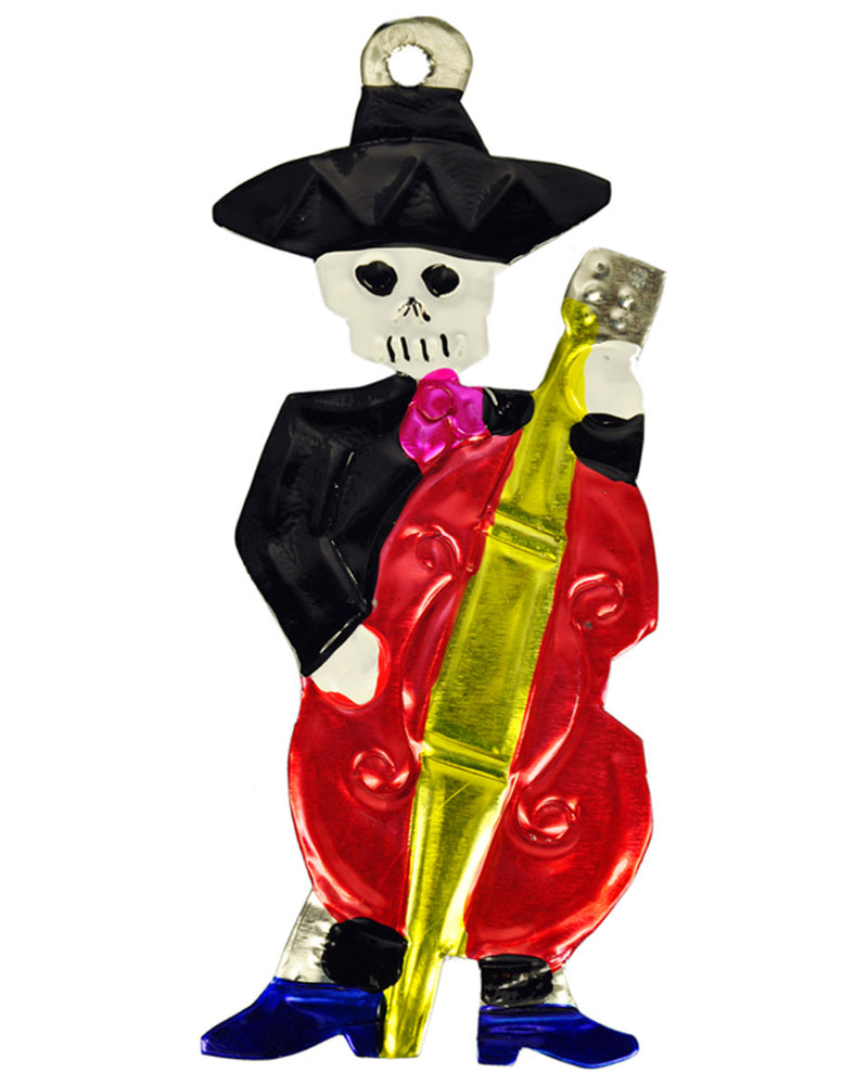 Mexican Mob Mariachi Bass Tin Ornament