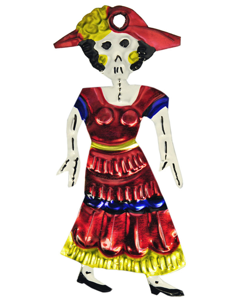 Mexican Mob La Catrina Tin Ornament
