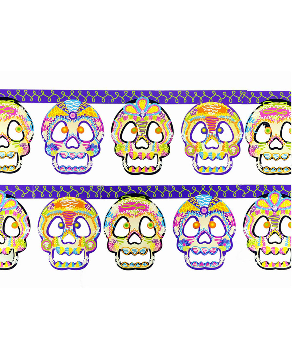 Mexican Mob Classical Sugar Skulls Garland | Rebel Rebel Bruges