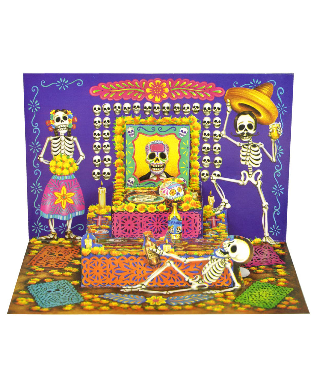 Mexican Mob Pop-Up Day Of The Dead Altar Card | Rebel Rebel Bruges