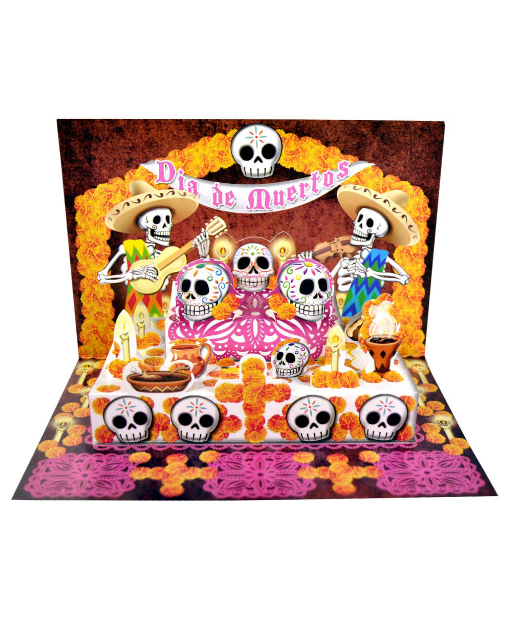 Mexican Mob Pop-Up Day Of The Dead Fiesta Card | Rebel Rebel Bruges