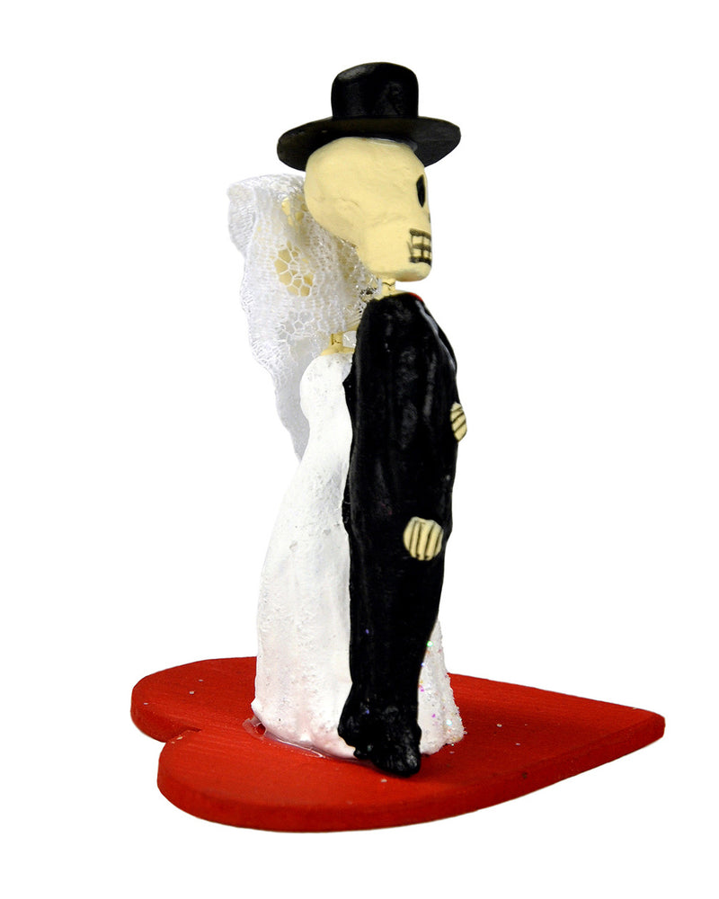 Mexican Skeleton Couple Wedding Heart Cake Topper | Rebel Rebel Bruges