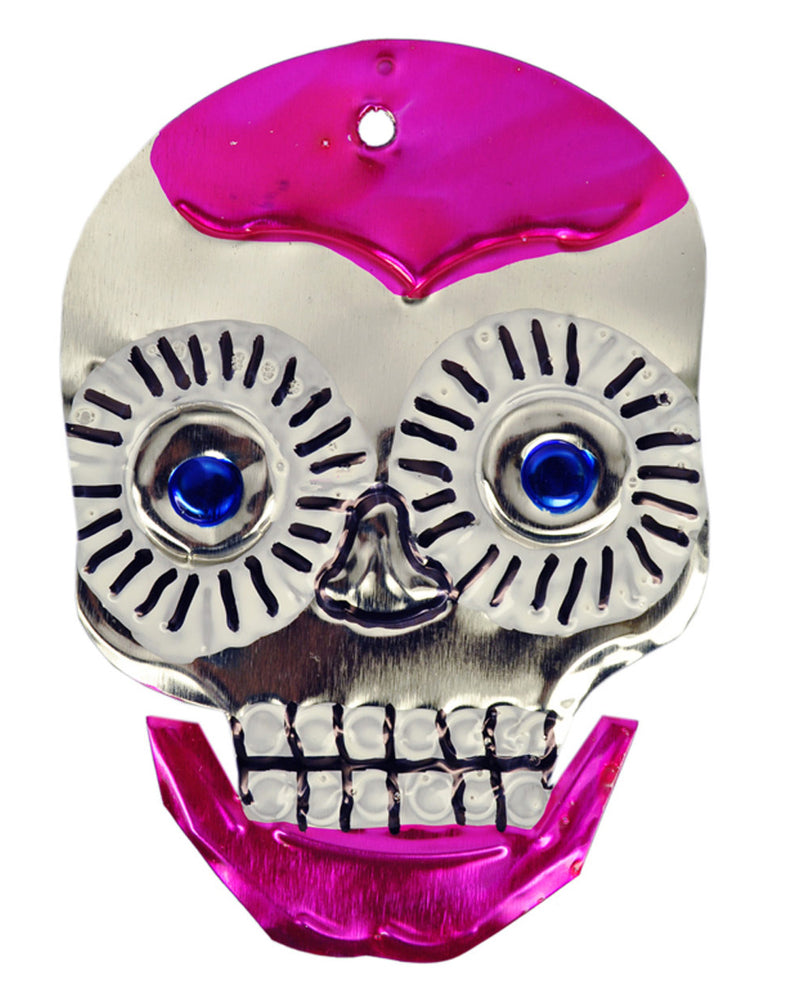 Mexican Mob Pink Sugar Skull Tin Ornament | Rebel Rebel Bruges