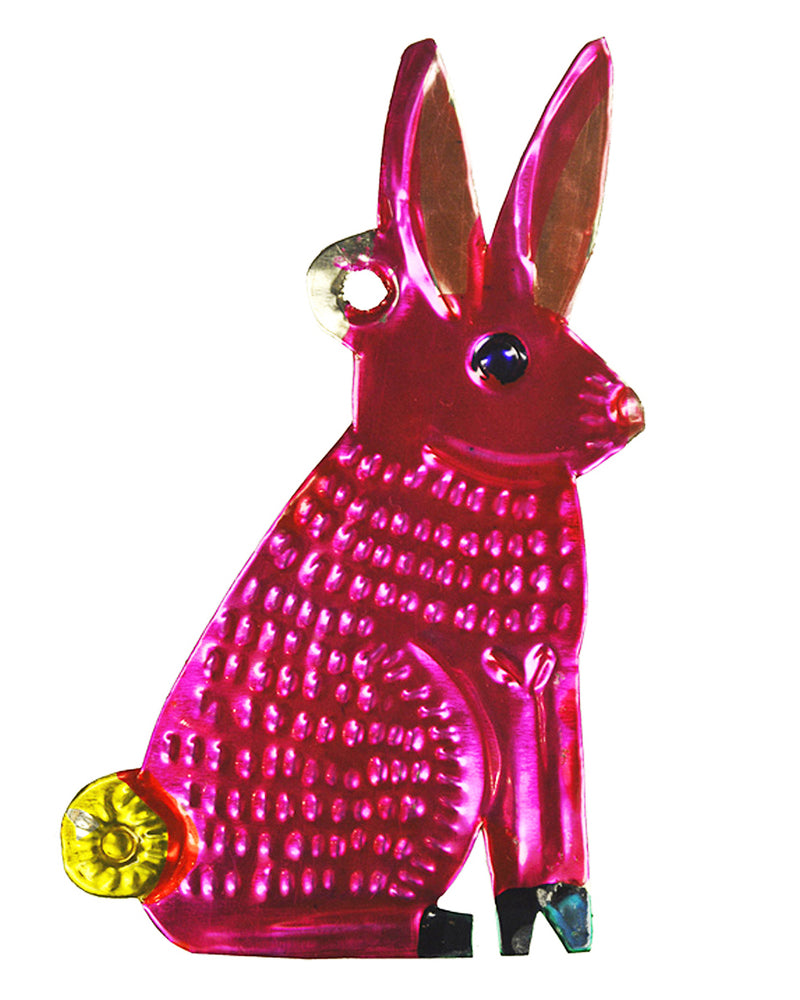 Mexican Mob Pink Bunny Rabbit Tin Ornament | Rebel Rebel Bruges