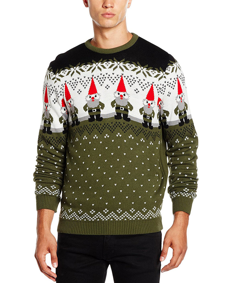 Run & Fly Gnomes Christmas Jumper