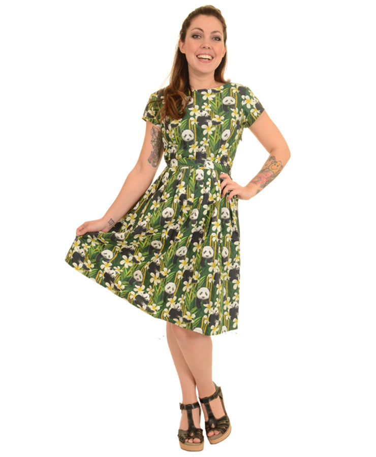 Run & Fly Bamboo Pandas Tea Party Dress | Rebel Rebel Bruges