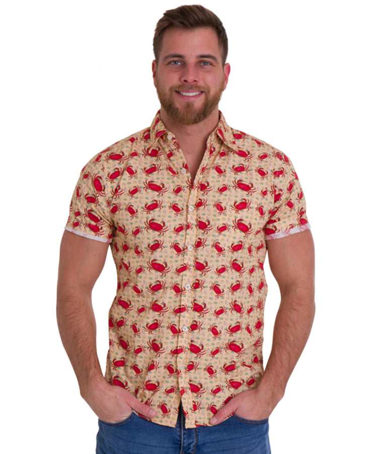 Run & Fly Crabby Hawaiian Rockabilly Shirt | Rebel Rebel Bruges