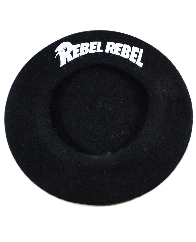 Rebel Rebel Black Wool Blend Beret Hat | Rebel Rebel Bruges
