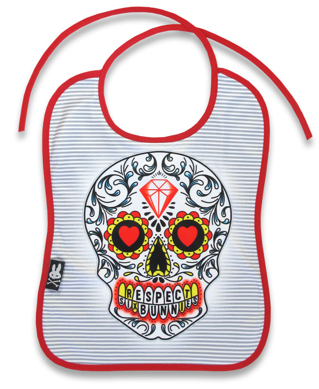 Six Bunnies Sugar Skull Baby Bib