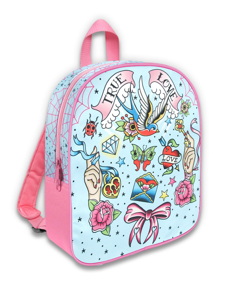 Six Bunnies True Love Tattoo Flash Kid's Backpack | Rebel Rebel Bruges