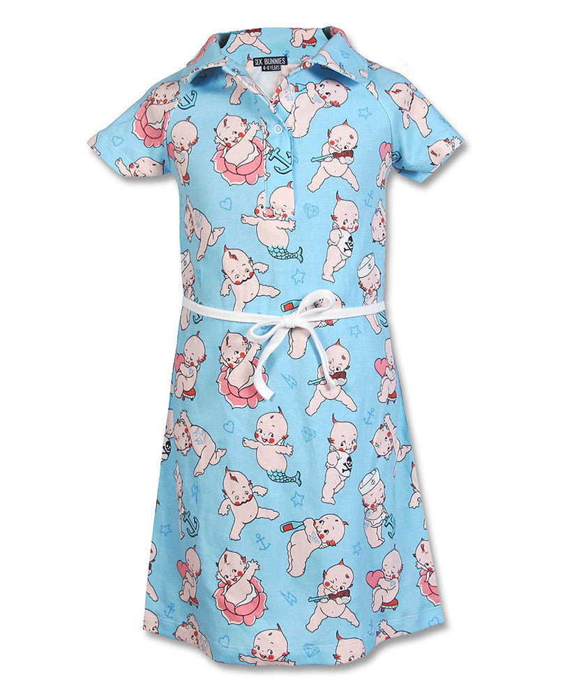 Six Bunnies Kewpies Kid's Dress