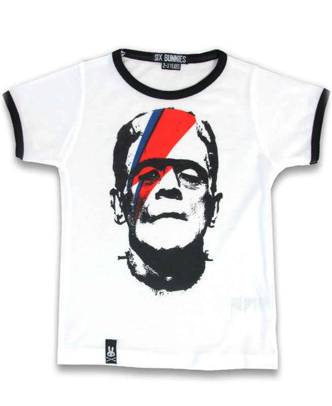 Six Bunnies Franken Bowie Kid's T-Shirt | Rebel Rebel Bruges