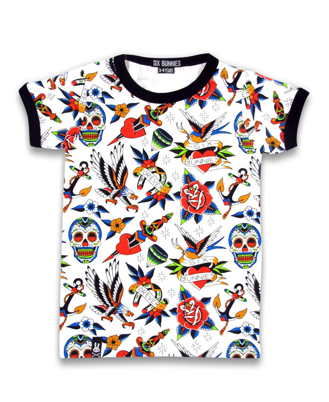 Six Bunnies Tattoo Shoppe Flash Kid's T-Shirt | Rebel Rebel Bruges