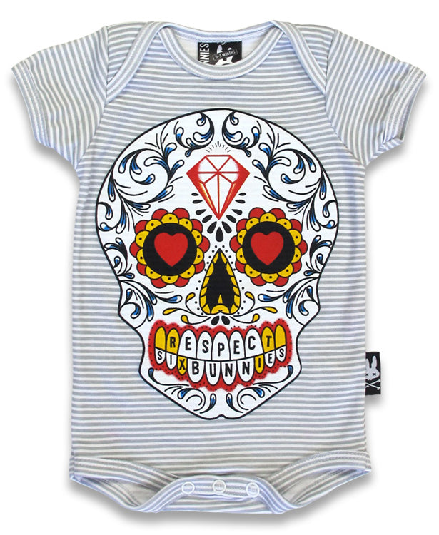 Six Bunnies Sugar Skull Baby Romper