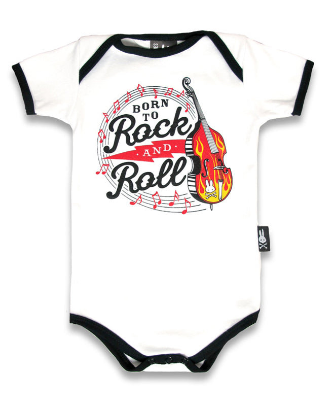Six Bunnies Born To Rock & Roll Baby Romper