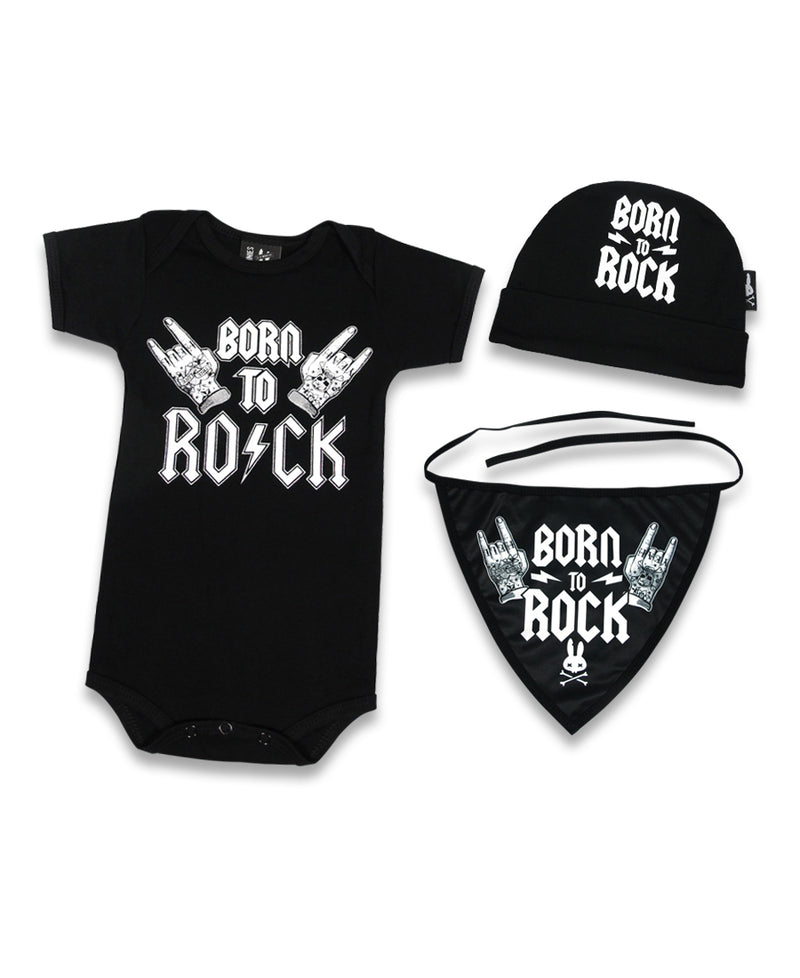 Six Bunnies Born To Rock Baby Gift Set | Rebel Rebel Bruges