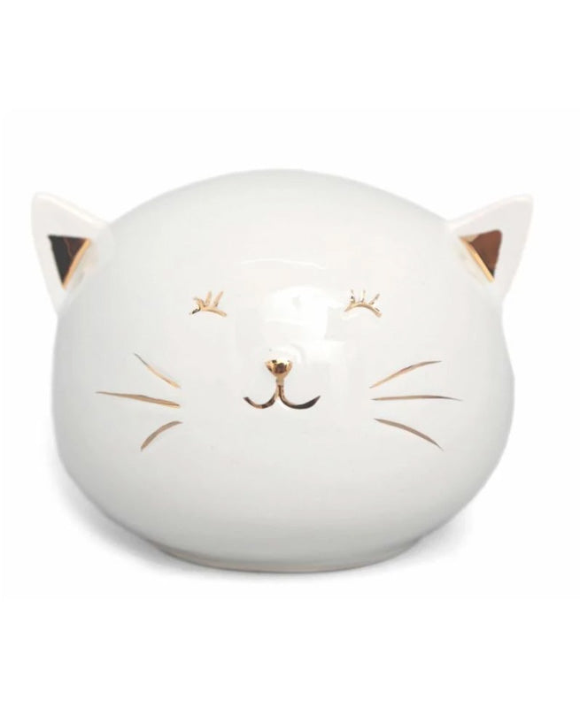 White Pussy Cat Kitsch Money Coin Box | Rebel Rebel Bruges