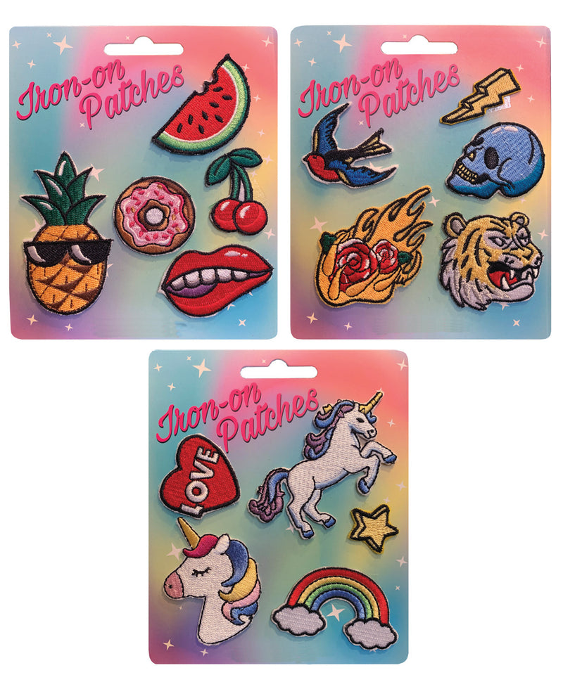 Fruit Tattoo Unicorns Iron-On Patch Set | Rebel Rebel Bruges