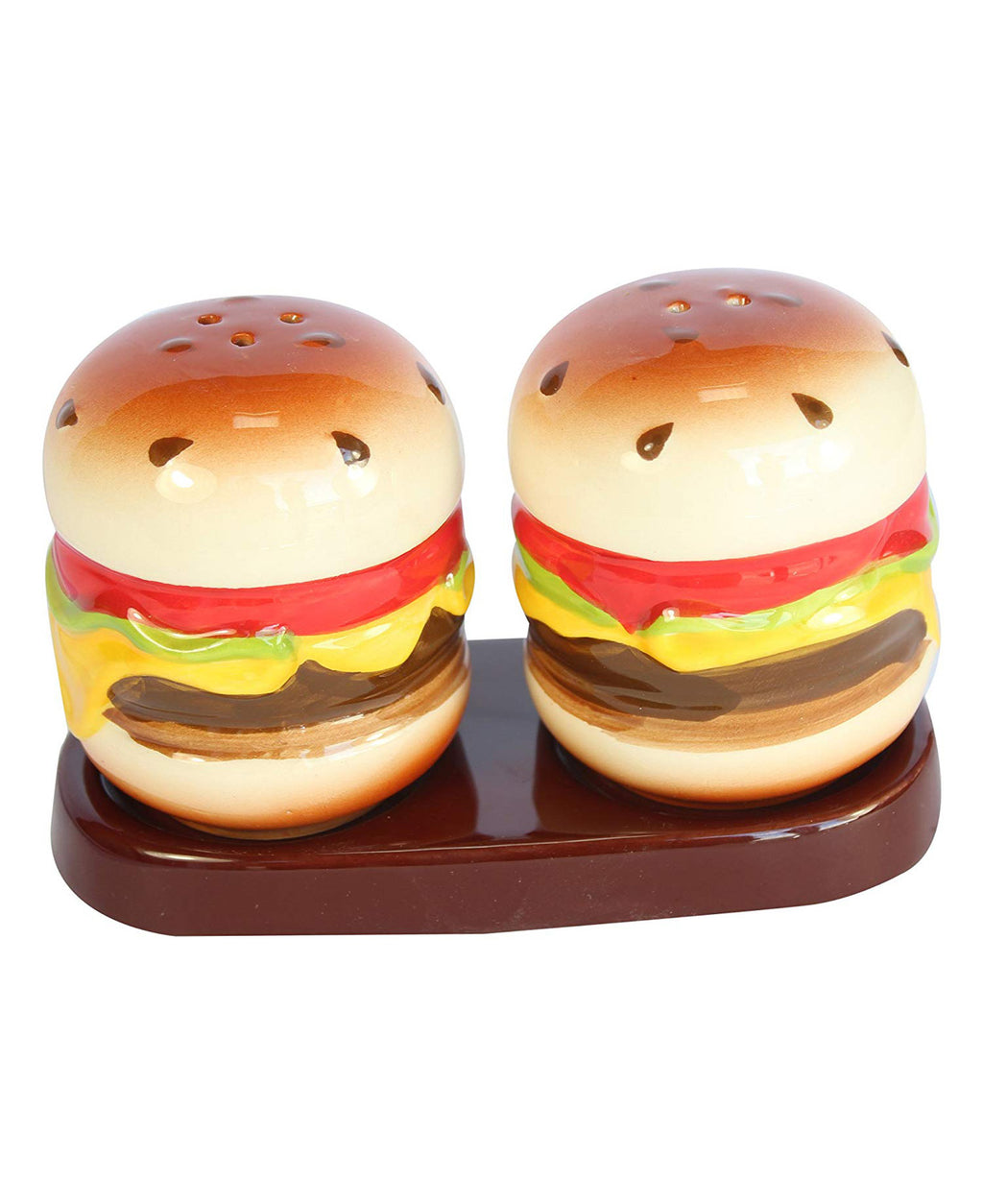 Hamburgers Ceramic Kitsch Salt & Pepper Shakers | Rebel Rebel Bruges