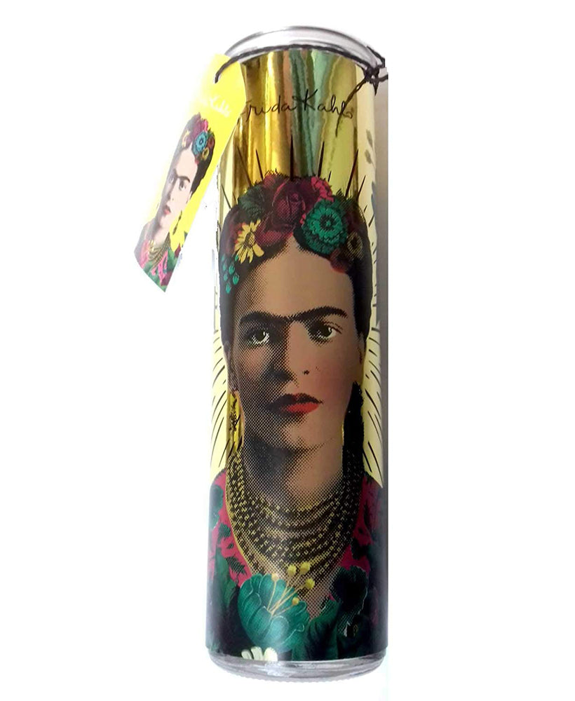Frida Kahlo Mexican Tall Glass Scented Candle | Rebel Rebel Bruges