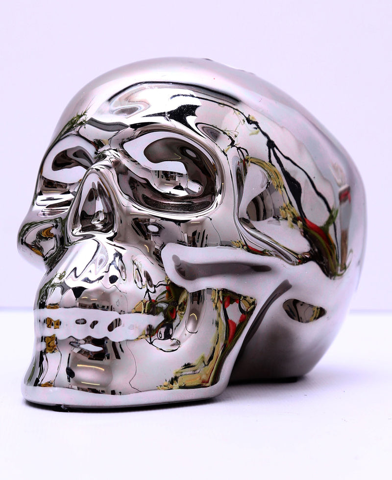 Large Shiny Skull Money Box