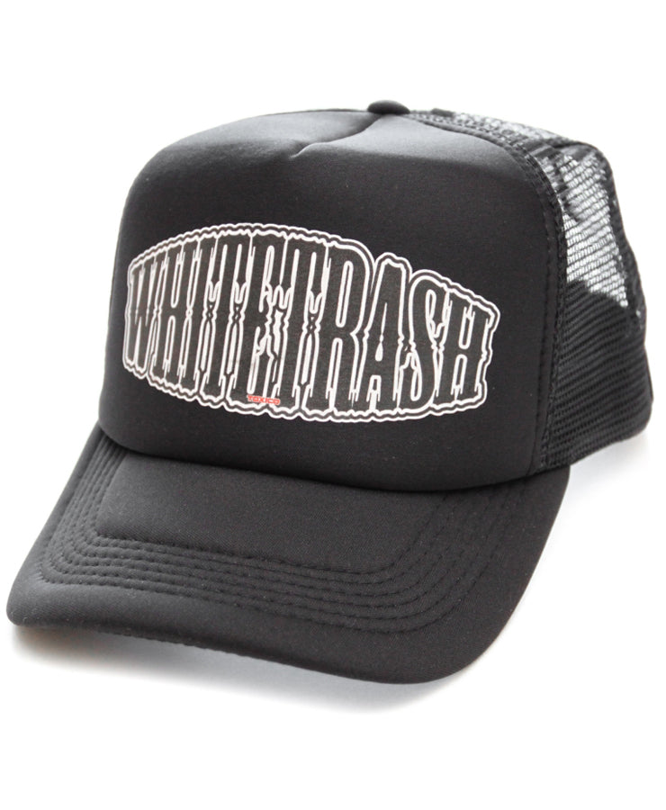 Toxico Whitetrash Black Trucker Cap